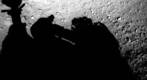 Тень человека над марсоходом Curiosity